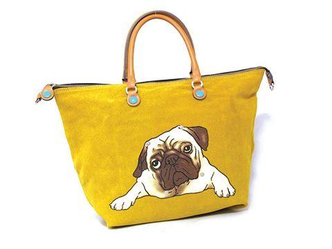 Gabs G3 I LOVE PETS handbag with pug - handtas met mopshond