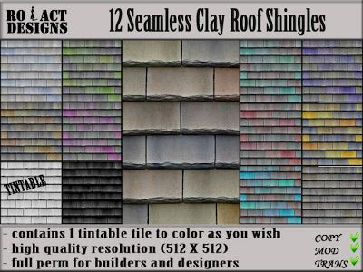 Ro!Act Designs 12 Clay Roof Shingles