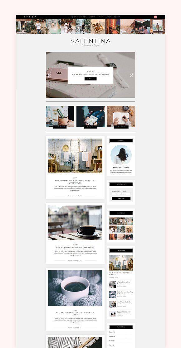 Valentina A Wordpress Blog Theme Blog Themes Wordpress Blog Themes Blog Templates Wordpress