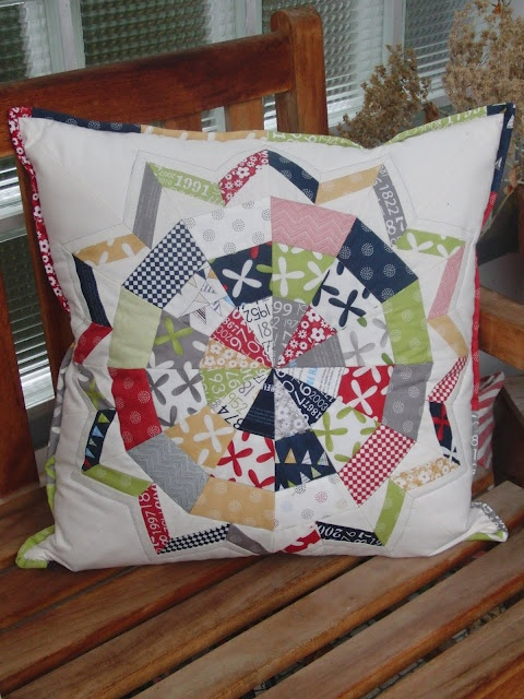 Star Flower Pillow Front