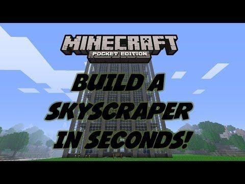 BUILD A SKYSCRAPER IN SECONDS! CHEAT! - Minecraft Pocket Edition - YouTube