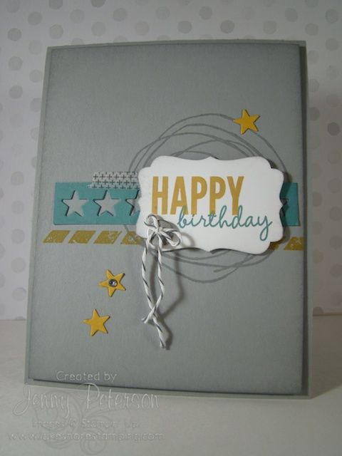 We absolutely love this clean and simple card made with product available from the Occasions Mini!