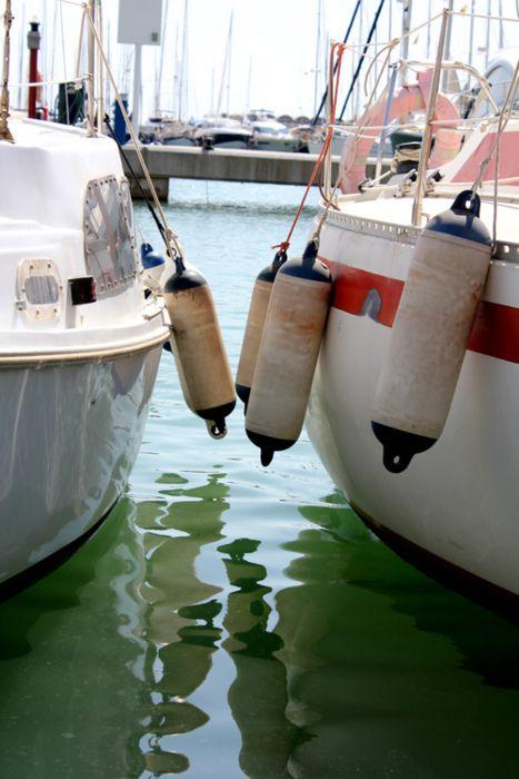 barcos, boyas, mar, sal...