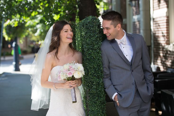 Windsor Arms Hotel bride and groom having fun!