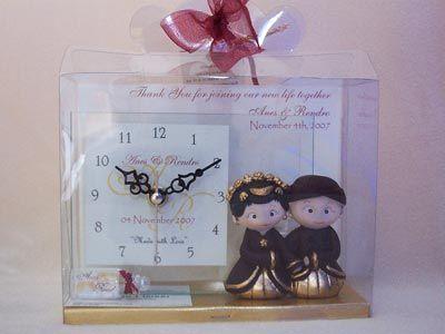 Traditional Clear Glass Clock,marco mario souvenir, wedding souvenirs, souvenir pernikahan