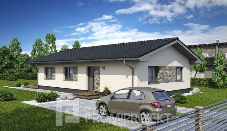 Úsporný 4 izbový bungalov na úzke pozemky Laguna 19, vizuál 1, Promiprojekt