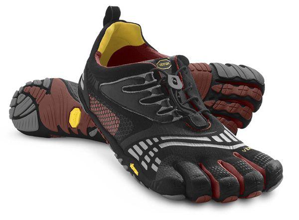 V-Run, Chaussures de Running Femme, Multicolore (Black/Yellow/Purple), 43 EUVibram Fivefingers