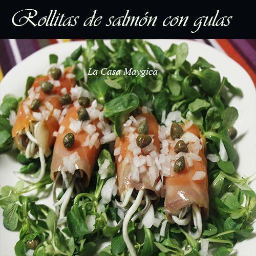 rollitos de salmón con gulas