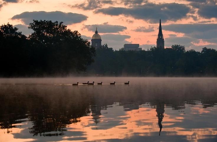 Dawn. (Notre Dame Alumni Association/Facebook)