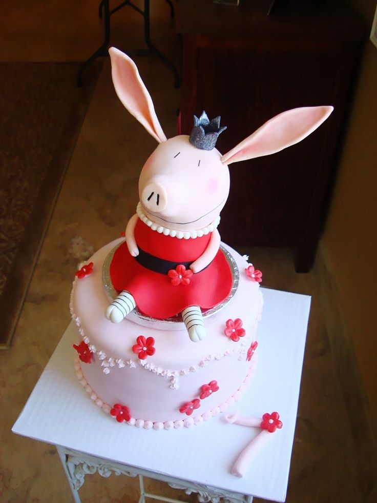 Olivia the pig cake- My daughter Coco would freak out!