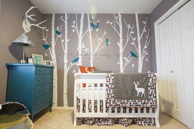 Modern Woodland Nursery | Life & Baby | . . . I wouldn't choose argyle but I like the woodland theme :)
