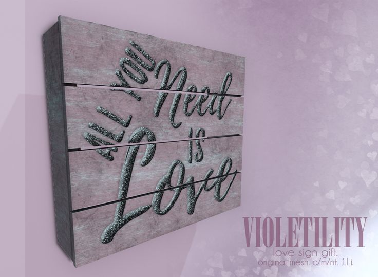 https://flic.kr/p/22ZfDG6 | Violetility - Love Sign Group Gift | New VIP Group Gift! Group enrollment is also free for the duration of the 50% off Valentine's Day Sale (until Feb 16th @ 11:59PM)!  maps.secondlife.com/secondlife/Violetility/130/173/22