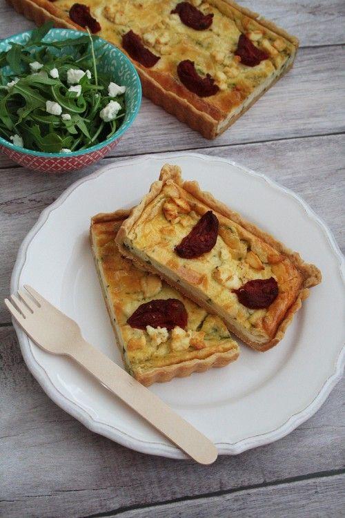 Bazsalikomkrémes pite kecskesajttal recept