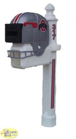 Ohio State Buckeyes Sports Customized Mailbox & Fan Pole Set