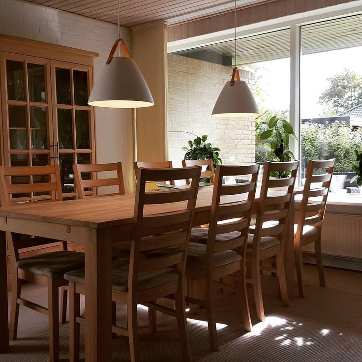 Wood Dining Room, Complimented By The Nordlux Strap 36 White · Ceiling  PendantPendant LightsLight ...