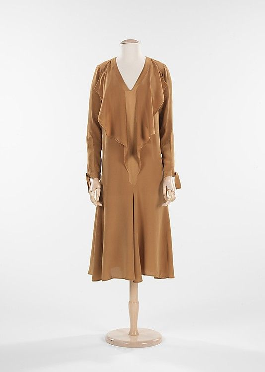 Dress 1927, French, Made of silk