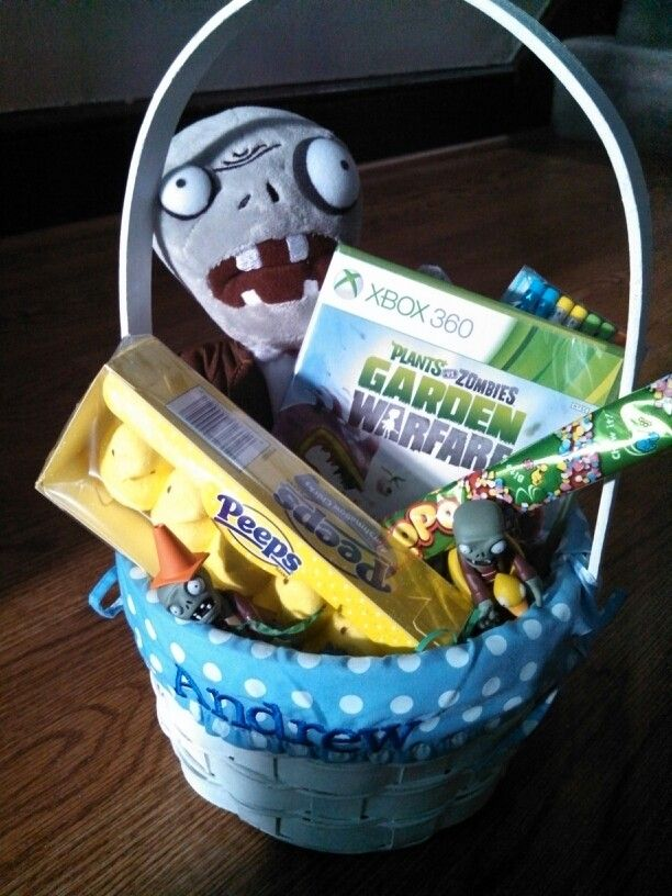 129 best easter all zombie easter images on pinterest plants vs andrews easter basketants vs zombies themed 2014 negle Image collections