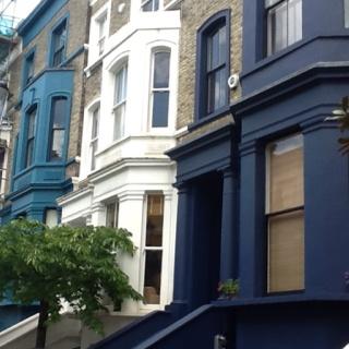 Paint My House Blue, Petrol Blue, Light Blue (Nottinghill Gate London)