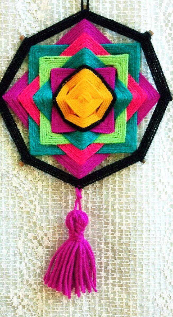 Souvenirs Atrapasueños, Mandalas Tejidos, Colgantes 18cm - $ 35,00 en MercadoLibre