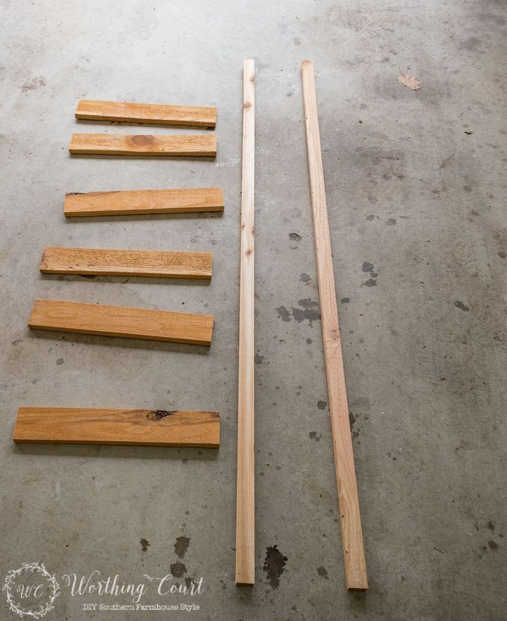 How To Make A Rustic Ladder For Under $20 - Worthing Court