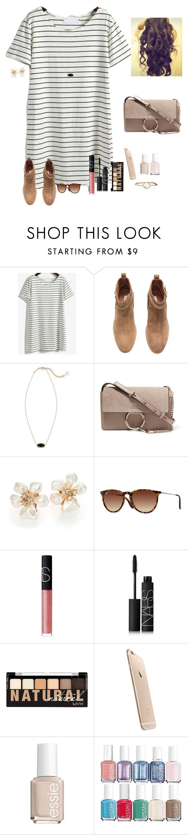 """""""Be on for God"""" by raquate1232 ❤ liked on Polyvore featuring H&M, Kendra Scott, Chloé, Kenneth Jay Lane, Ray-Ban, NARS Cosmetics, NYX, Essie and Accessorize"""