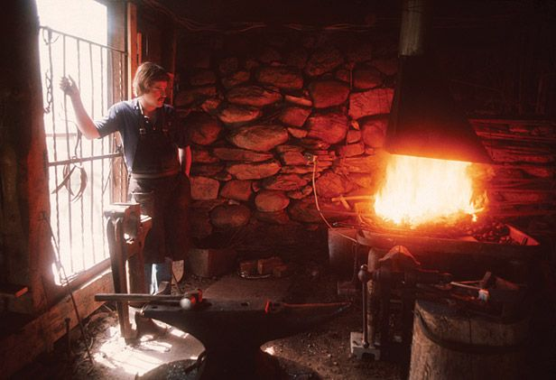 George chandler founder of hubbardton forge our story for Craft in america forge