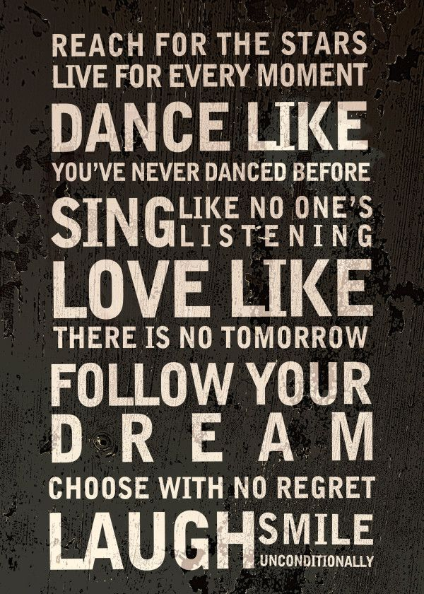 Dance Love Dream Inspirational Poster Print Metal Posters