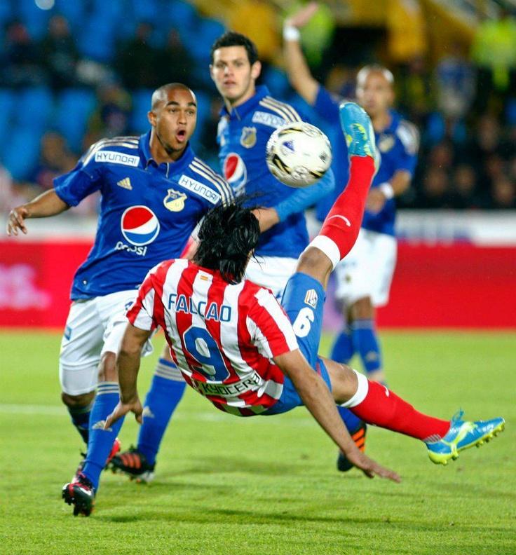 Bogotá, Colombia - May 16th - Millonarios F.C vs. Atlético de Madrid - Radamel Falcao scored and amazing goal.