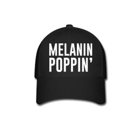 Melanin Poppin' Flex Fit Baseball Cap - Black