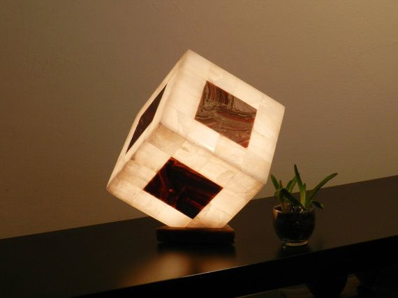 Table Lamp Desk Bedside Onix Stone Quartz Exotic