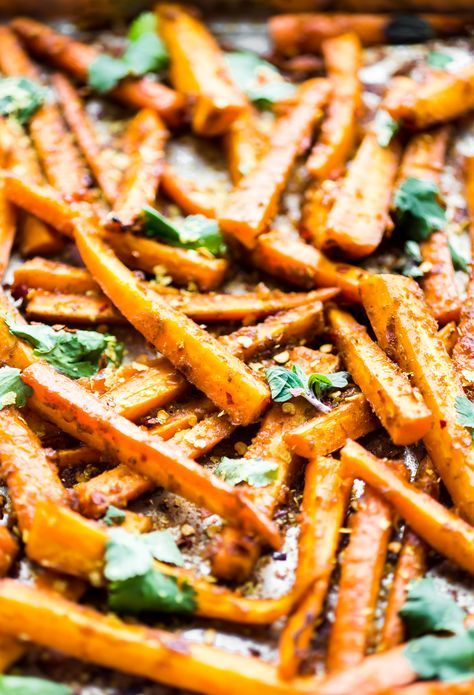 These Peri Peri oven baked carrot fries are gonna knock your socks off ya'll! The homemade Peri Peri Sauce is the key to making these carrot fries more flavorful. Just marinate slice carrots in the sauce, bake, and enjoy! A paleo, vegan, and whole 30 friendly snack with a kick of spice.