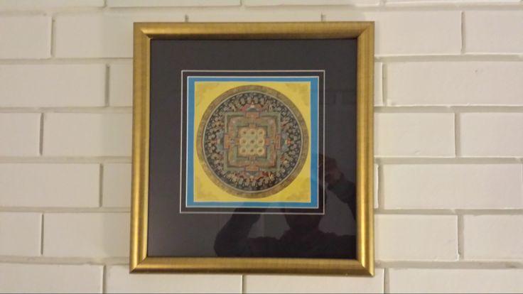 Inspiring Mandala on one of the walls.