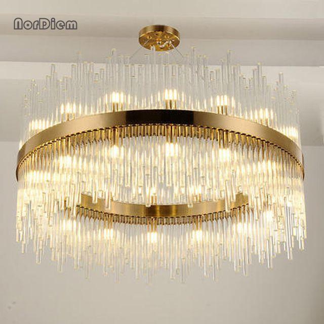 Modern Led Ring Chandelier Light Led Hanging Drop Lamp For Dining