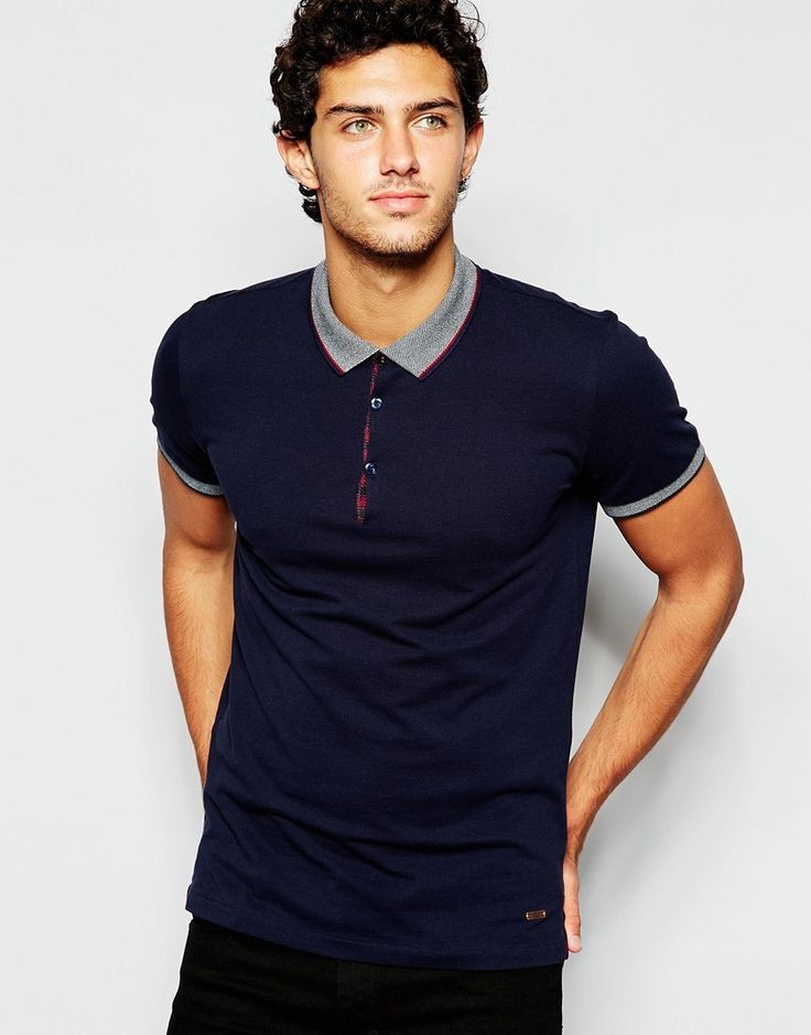 Image 1 of BOSS Orange Polo Shirt with Contrast Collar
