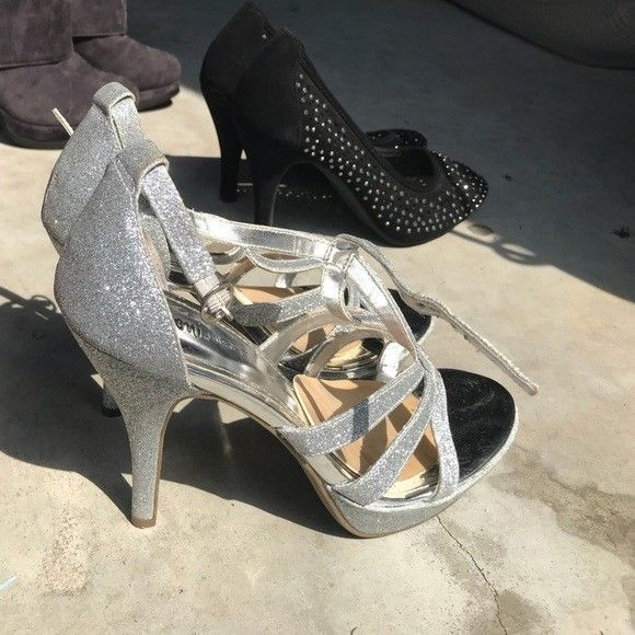 2d3c2e4009b Sparkle   silver glitter heels worn once ! Strappy! Accepting Offers!   fashion  clothing  shoes  accessories  womensshoes  heels (ebay link)