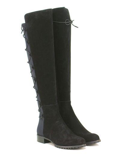 Michael Kors - Stivali - Donna - Stivale in camoscio e tessuto con zip su lato…