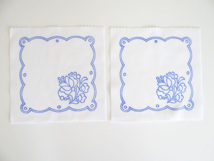 2 Kalocsa square doilies pattern print from Hungary New 6 1/4'' x 6 1/4'' a in Collectibles, Linens & Textiles (1930-Now), Lace, Crochet & Doilies | eBay