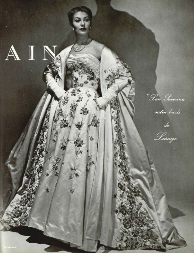 1955 Pierre Balmain - Love!  Wish the photo was in color!
