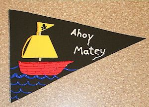 Every pirate needs a flag! Flags are sometimes used by pirates as a way to identify each other so everyone should design their own unique flags that represents them.