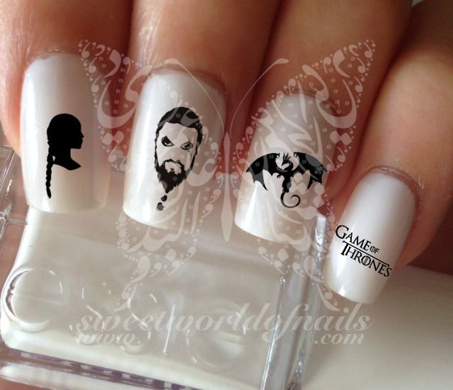 Game of Thrones Drogo Art Nail Water Decals Transfers Wraps
