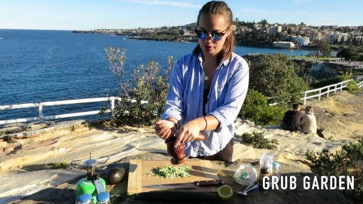 Vegetarian Pesto Cucumber Rolls   By Grub Garden