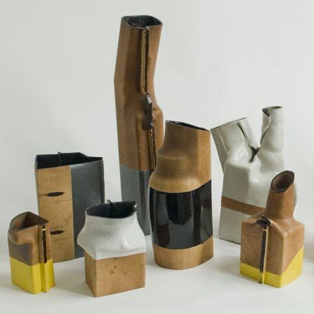 simon hasan vases - boiling leather to make it waterproof. - sabrina