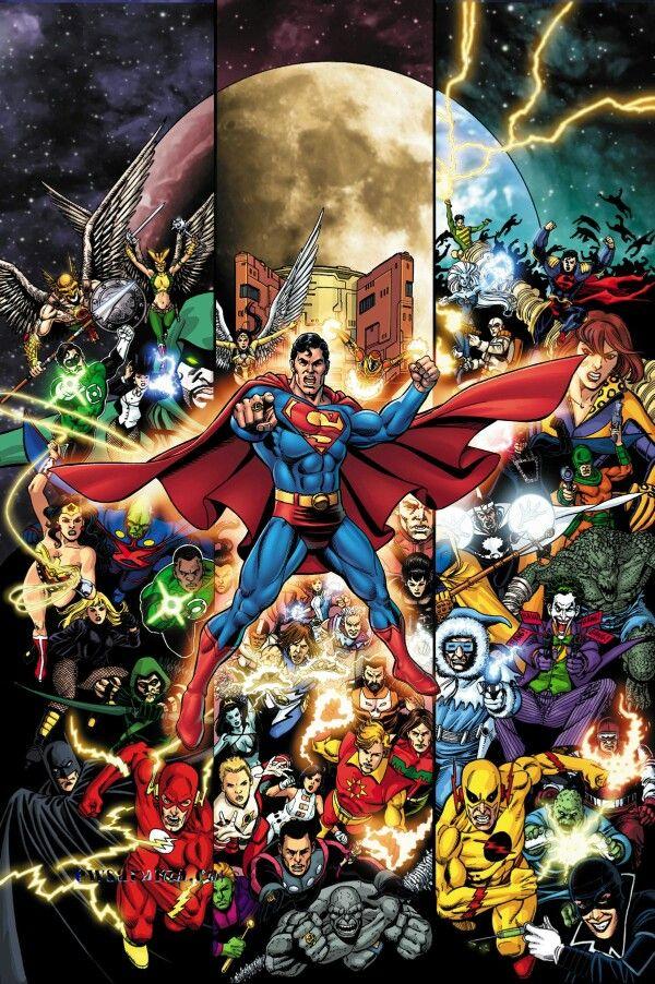 Justice League art by George Perez                                                                                                                                                                                 Mais