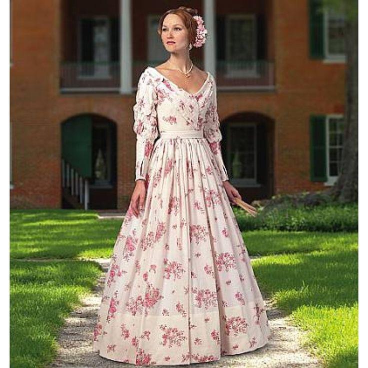 englisches Schnittmuster Butterick 5832 historisches Kleid