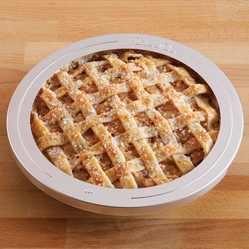 "Say bye-bye to overbrowned pie crust edges! This baking buddy shields them from oven heat. Simply remove for last 15 minutes of baking. 10½"" diameter."