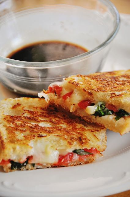Barefoot and Baking: Caprese Grilled Cheese (I would try mozzarella ...