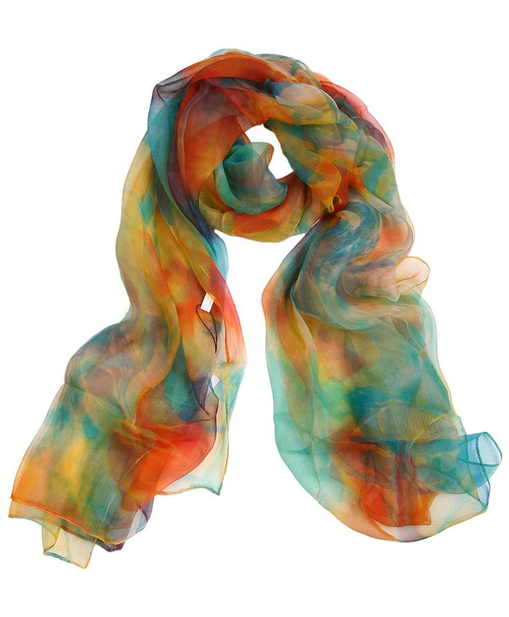 Painterly Print Silk