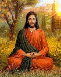 Jesus yogi meditando.