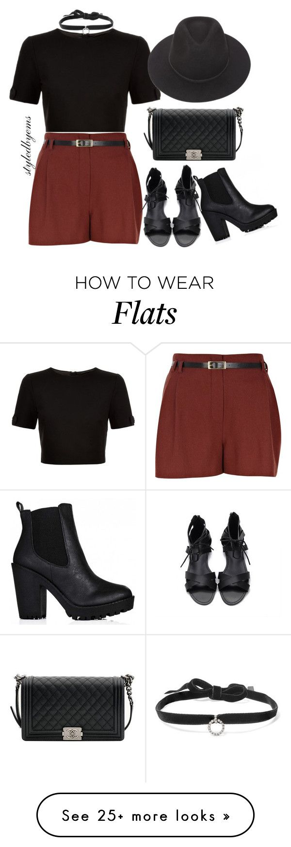 """Shoe dilemma! Heels or flats?? xx #Styledbytherow"" by riseoftherow on Polyvore featuring DANNIJO, Ted Baker, River Island, Chanel and Brixton"