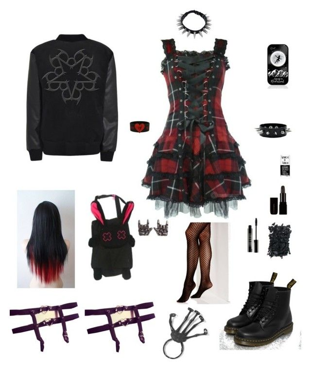 """""""emo"""" by lailamonsterbunny ❤ liked on Polyvore featuring Hell Bunny, Samsung, Dr. Martens, Lord & Berry, Uslu Airlines, Vince Camuto, women's clothing, women's fashion, women and female"""